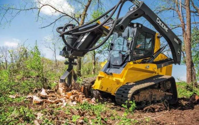 迪尔(Deere)的新SS30树桩粉碎机低而慢