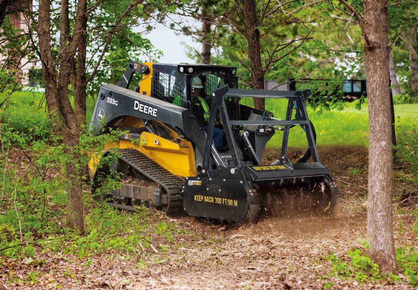 约翰迪尔推出新的树桩粉碎机